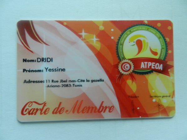 Carte de Membre ATPEOA