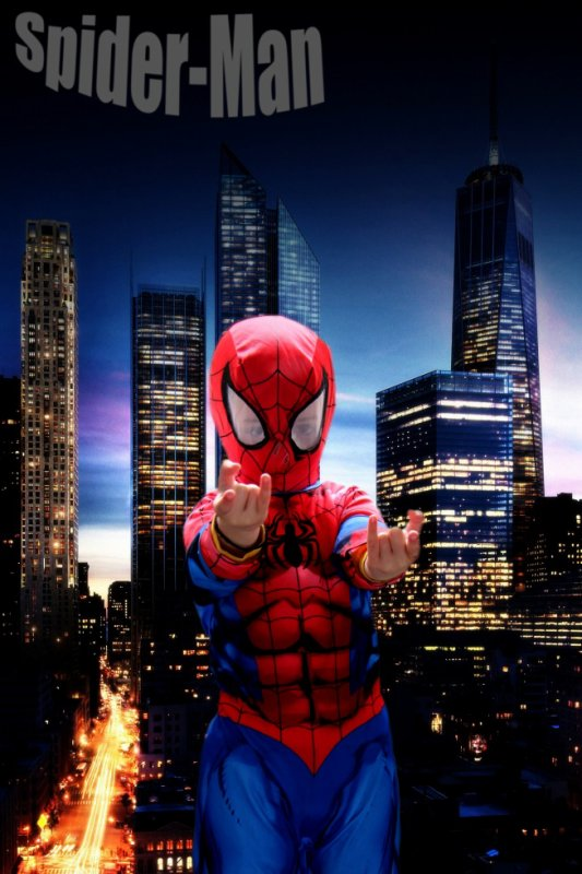 Detourage et montage spiderman