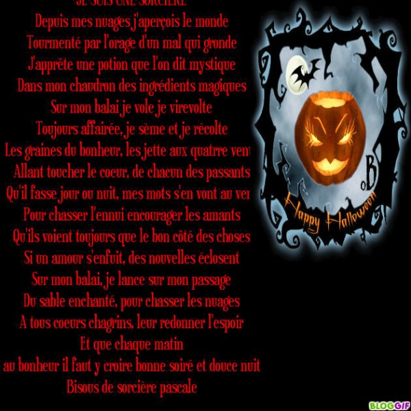 Bonne soirée  d'halloween