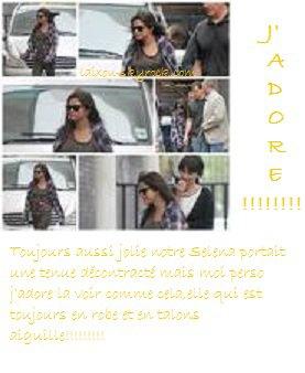 Vendredi 08/07 Selena quittant son hotel!