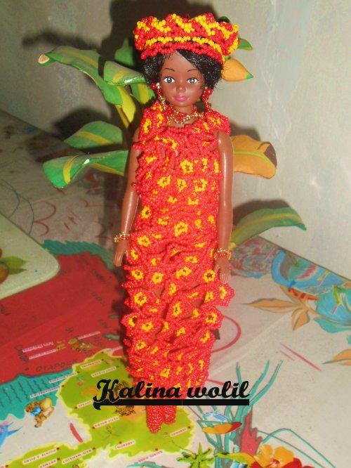 Poupée africaine (modèle de ma cousine Françoise)
