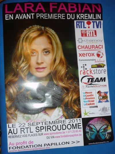 affiche concert Lara Fabian Charleroi 22/09/11