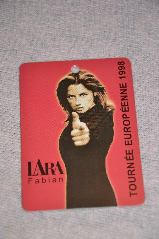 Lara Fabian pass tournée européenne 1998