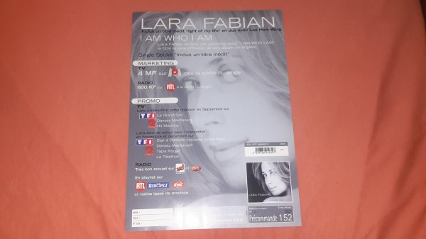 "plan média Lara Fabian ""I am Who i am """