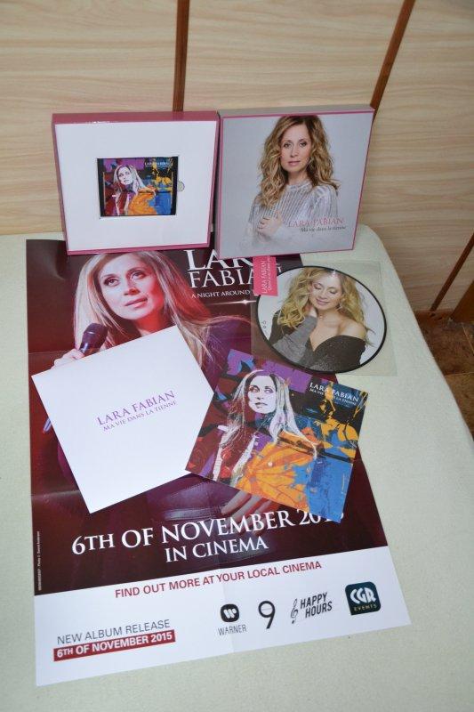 """coffret deluxe fan Lara Fabian """"Ma vie dans la tienne"""""""