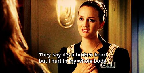 Traduction image : Ils disent que c'est un coeur brisé mais j'ai mal dans tout mon corps.