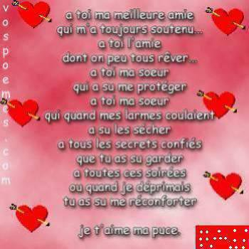 Poéme Damitié Mm