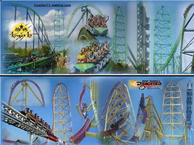Kingda Ka vs Top Thrill Dragster