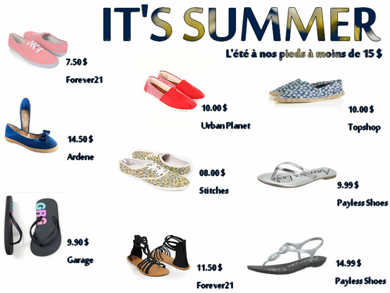 On achete : les souliers d'été sans se ruiner