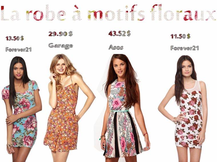 On achète : La robe à motifs floraux