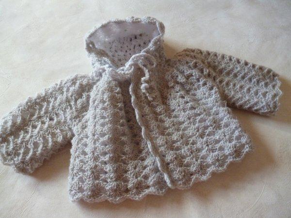 manteau crochet reversible prix 30¤ VENDU