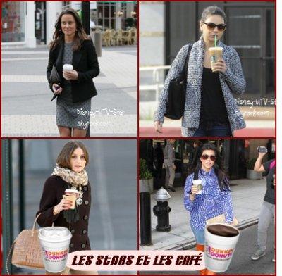 Les stars qui marchent à la caféine