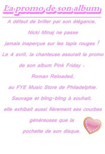 La promo de son album ♥