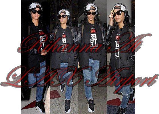 Rihanna At L'AX Airport ♥