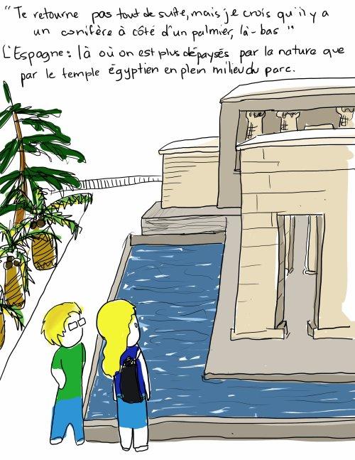 Les vacances datent de la plus haute antiquité. Elles se composent régulièrement de pluies fines coupées d'orages plus importants. -- Alexandre Vialatte  Et c'est pour y échapper que je suis partie à Madrid !, dit-elle sous l'orage...