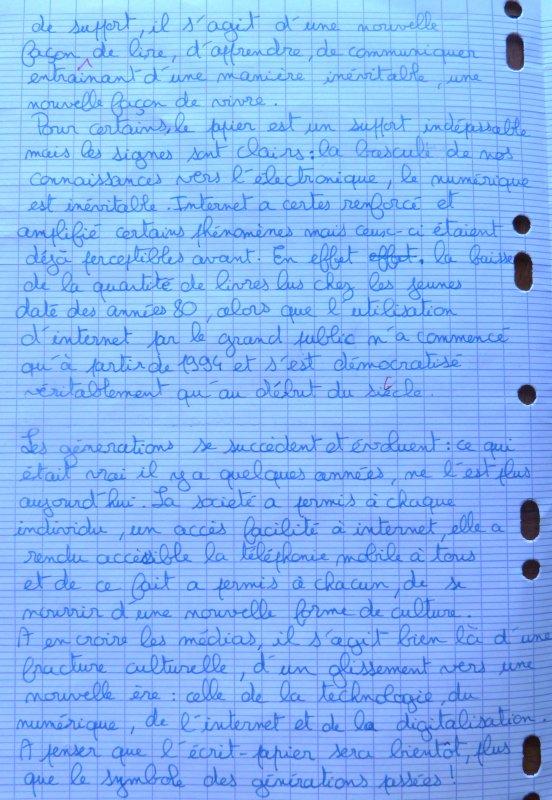 ANALYSE DE DESSIN EN SECONDE. ECRITURE D'ARGUMENTATION.
