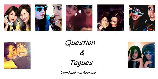.YourPainLove.Skyrock . Tagues / Questions     . ♫ Video  >> S.Gomez and D.Lovato .
