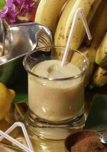 Milk-shake avec oeufs aux bananes