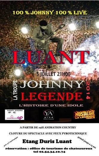 La troupe Johnny Légende en concert le 5 Juillet à Luant(36)