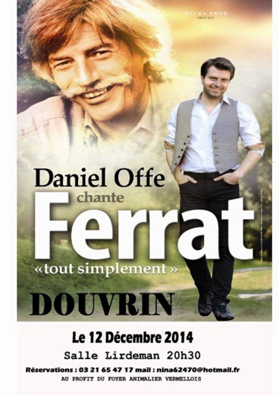 Récital Hommage à Jean Ferrat à Douvrin le 12 decembre au profit du Foyer animalier Vermellois