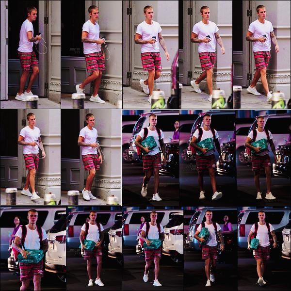 01/06/17 - Pour bien commencer le mois, Justin Bieber  quittait le Aire Ancient Baths, dans New York ! Dans la même journée, il avait été vu arrivant à une salle de sport, toujours dans New York. Il portait la même tenue les deux fois ...