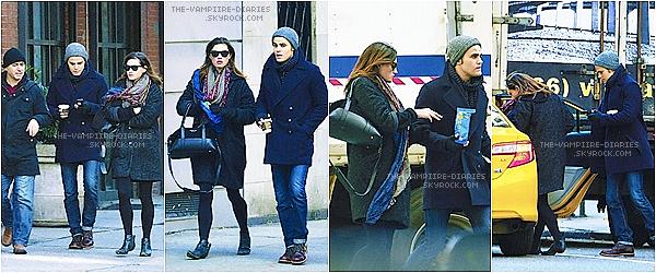 CANDIDS :Le 29.11.13Paul Wesley & Phoebe Tonkin ont étaient aperçues dans les rues de New York !!