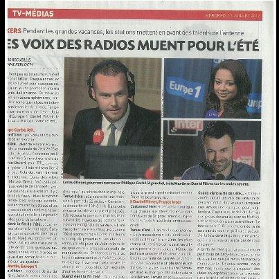 """Articles de presse sur """"Campus"""" (Europe 1) ou """"Vous êtes en direct"""" (NRJ 12)"""