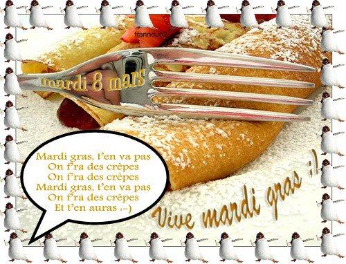 le 8 mars:: c'est mardi gras