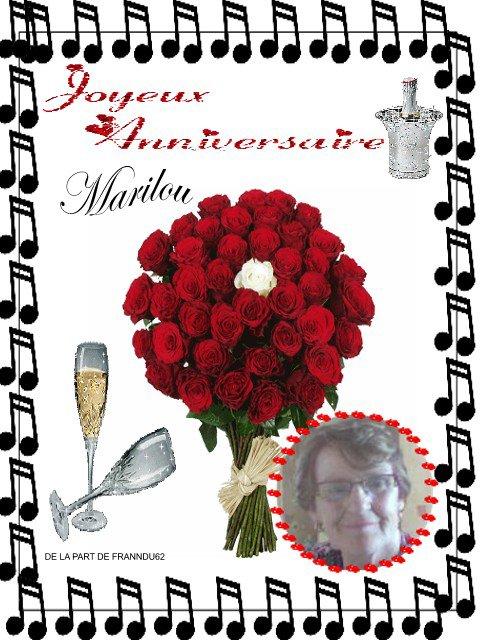 bon anniversaire Marilou