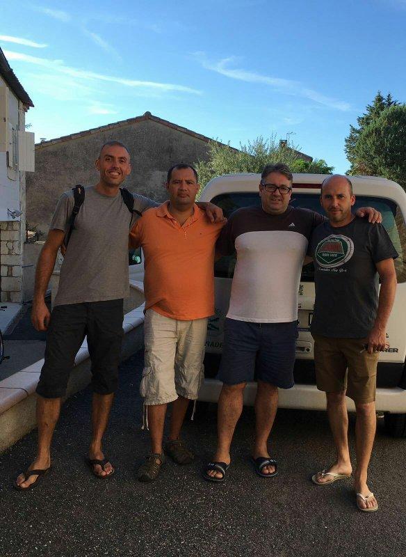Con amigos  en Mer 2016
