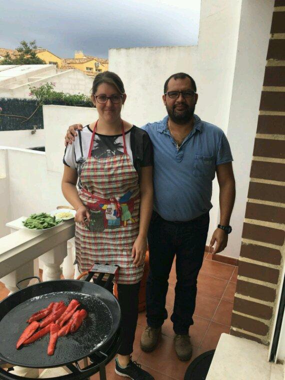 Preparando la Paella