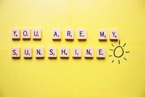 - Mon rayon de soleil, c'est toi. -
