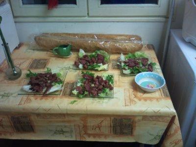 31 decembre 2010    salade de gesiers preparer par steven