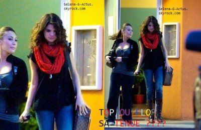 07/03 - Selena sort de chez Sushi Dan