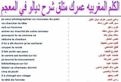 le langage des <marocains>  !!!