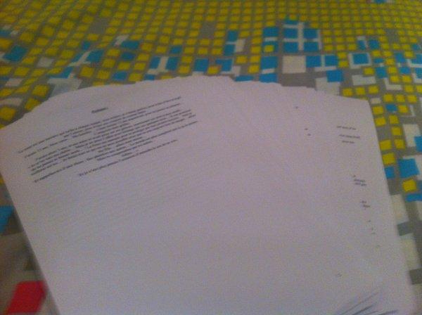 Mon roman format papier!