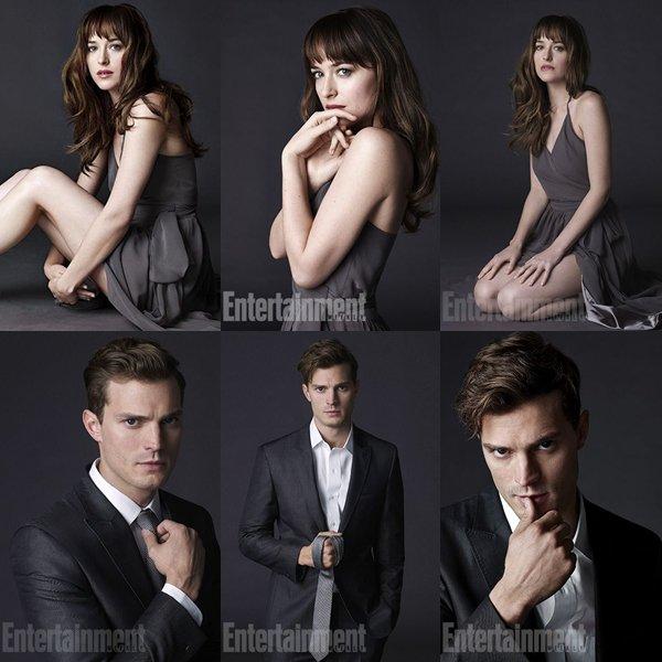 Premier aperçus de Jamie et Dakota dans les rôles de Christian et Anastatia pour le magasine Entertainment