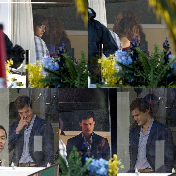 Jamie et Dakota encore et toujours sur le tournage de FSOG à Vancouver.