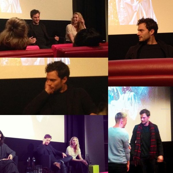 "Jamie était à la Press Screening de sa mini-série ""New Wolrds"" qui sera diffusée au mois de Mars en Angleterre sur Channel 4."