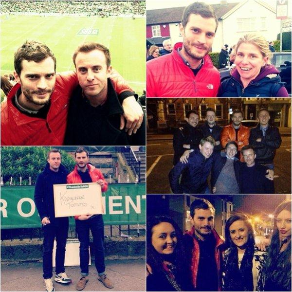 Jamie a assistait à un match de rugby à Belfast qui opposait l'Irlande et L'italie.