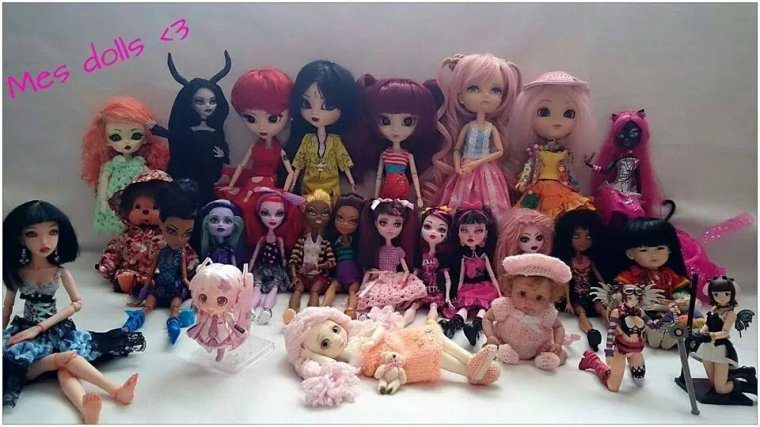 Mes monsters highs  customisées et Dolls