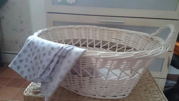 Paniers prêts à être transformés en couffins pour mes bébés reborns