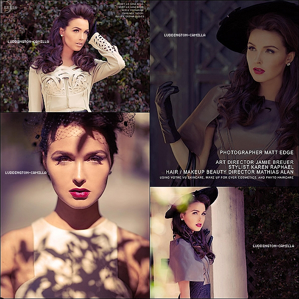 """Voici des photos de Camilla pour son nouveau shooting pour le magazine """"Bello 2013"""""""