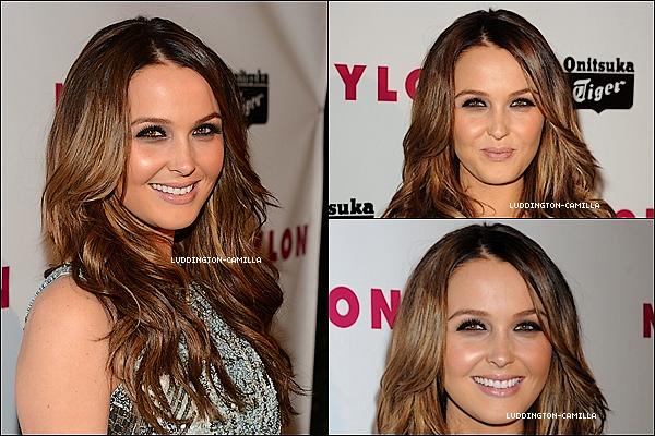 """Le 13/05/13: Camilla était présente au """"NYLON Young Hollywood Mai émission"""""""
