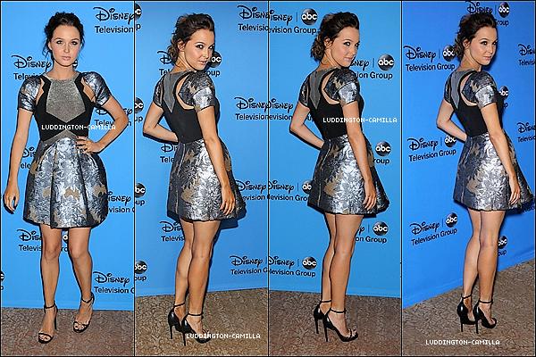 Le 04/08/13 : Camilla a assisté auxcritiques Disney ABC Television Association du Parti
