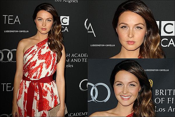 """Le 21/09/13: Camilla était présente au """"BAFTA Los Angeles Cafetière 2013""""."""