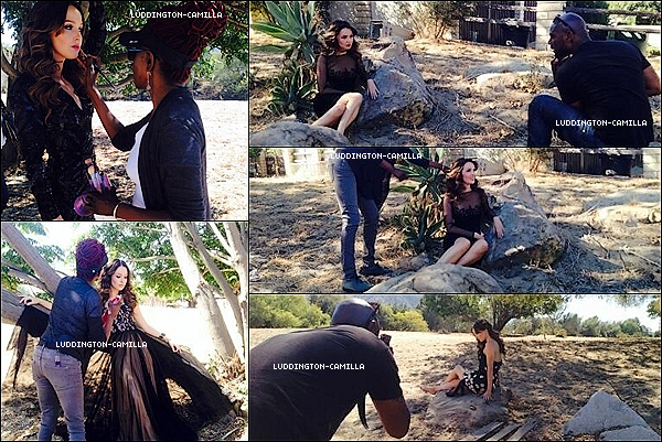 Voici des photos de Camilla sur le set du tournage de son shooting qui sortira prochainement
