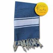 fouta tunisienne bleu calanques drap de bain hammam