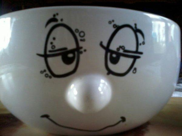 j'ai remarquer que je ressembler à mon bol le matin mdr