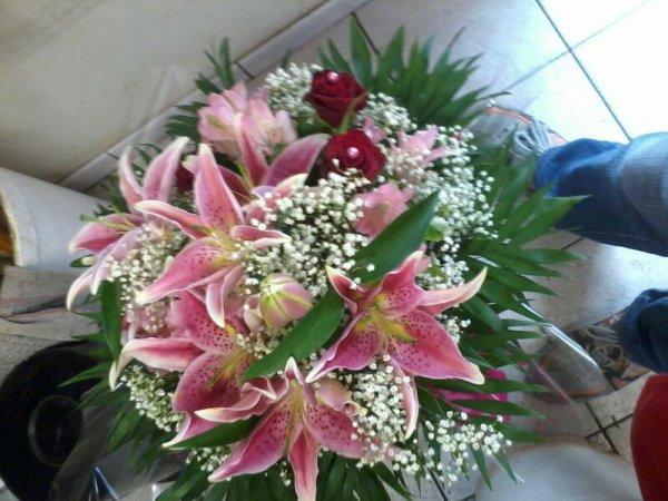 que penser vous du dernier bouquet que j'ai fai à la fin de mon stage ?